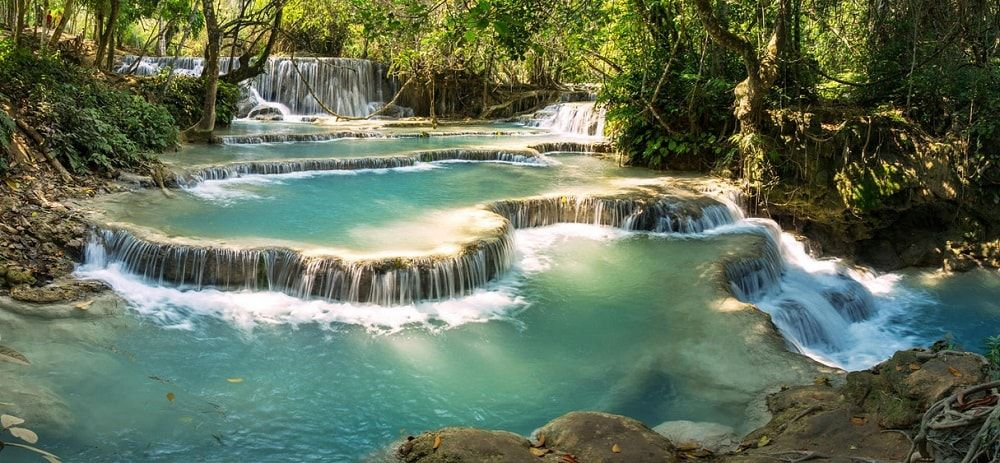 kuang si fall laos adventure tours